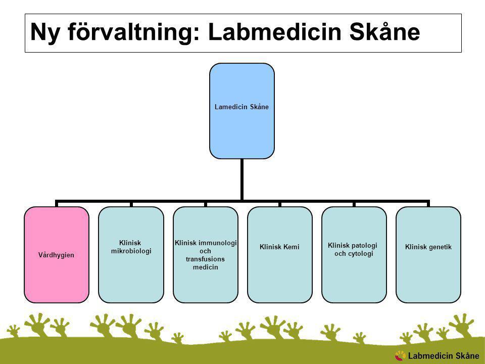 Ny förvaltning: Labmedicin Skåne
