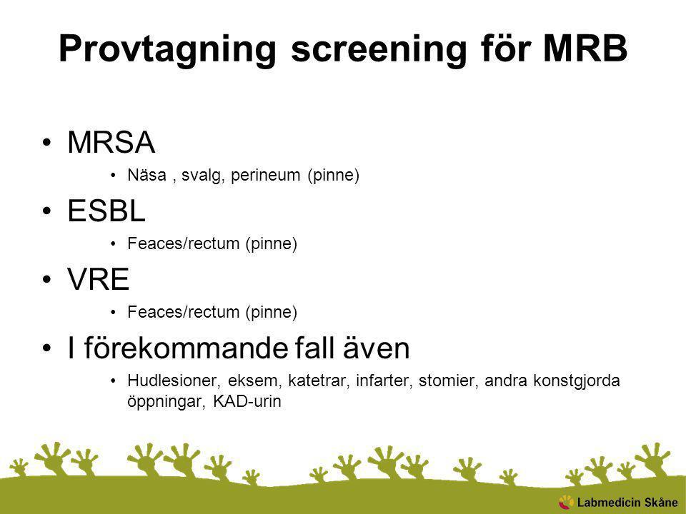 Provtagning screening för MRB