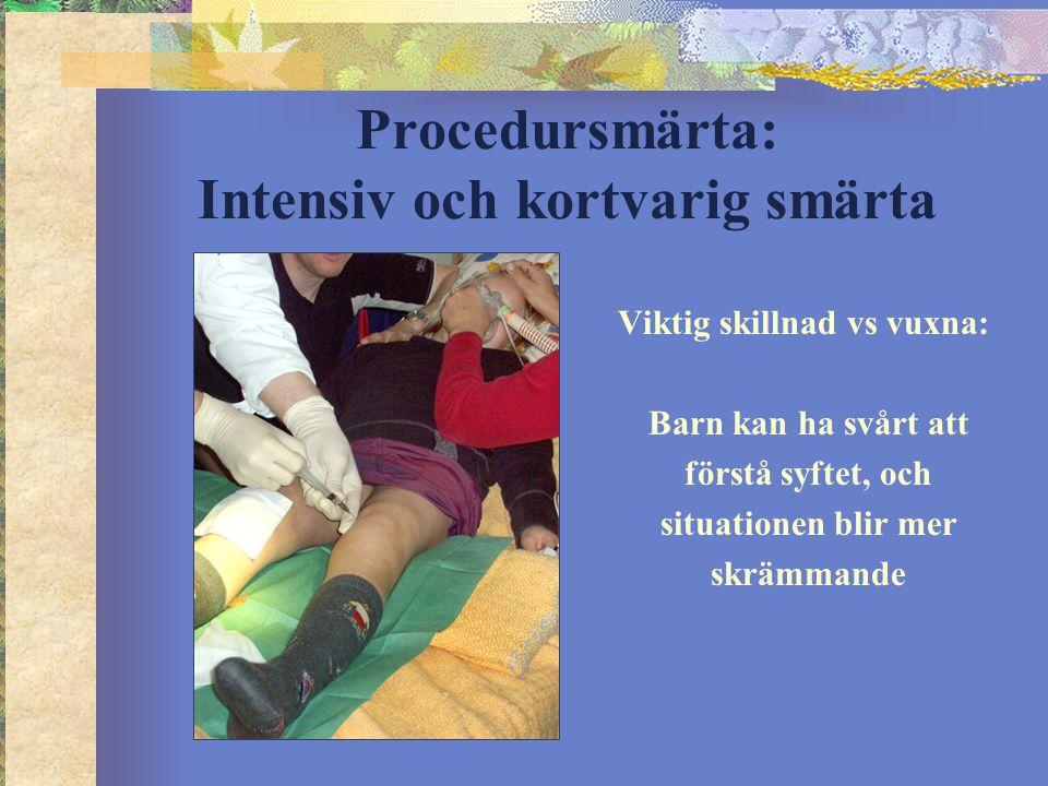 Procedursmärta: Intensiv och kortvarig smärta