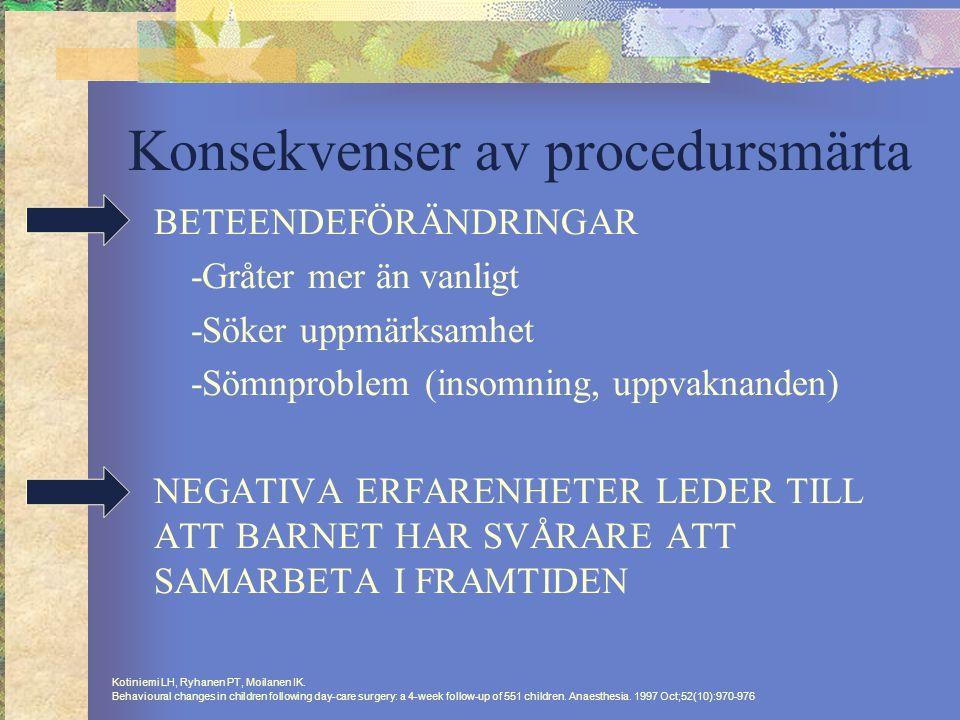 Konsekvenser av procedursmärta