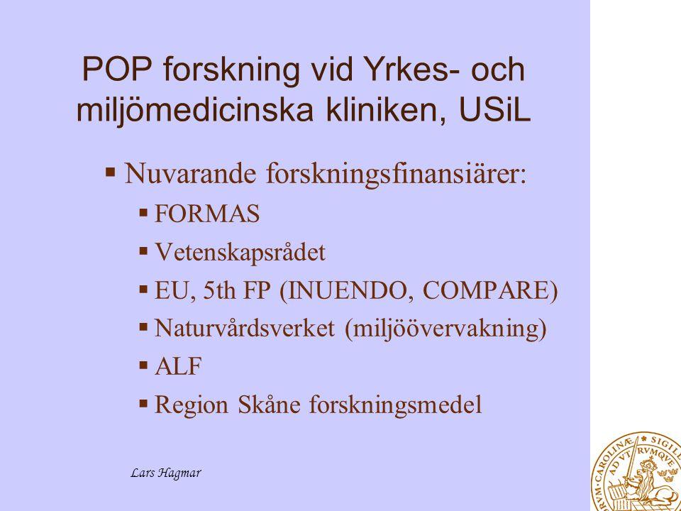 POP forskning vid Yrkes- och miljömedicinska kliniken, USiL