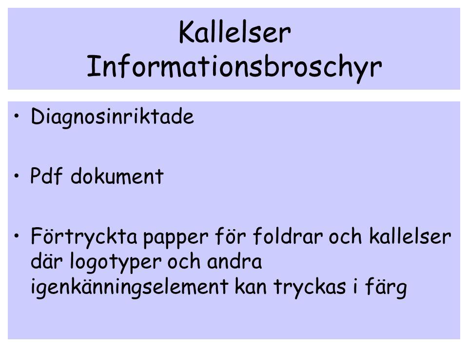 Kallelser Informationsbroschyr