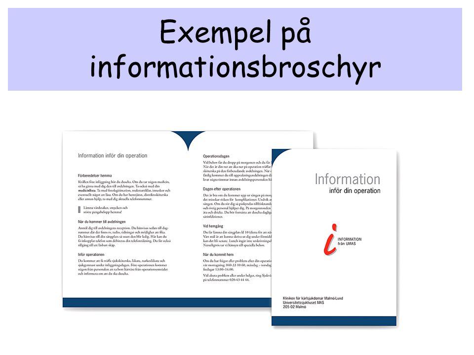 Exempel på informationsbroschyr