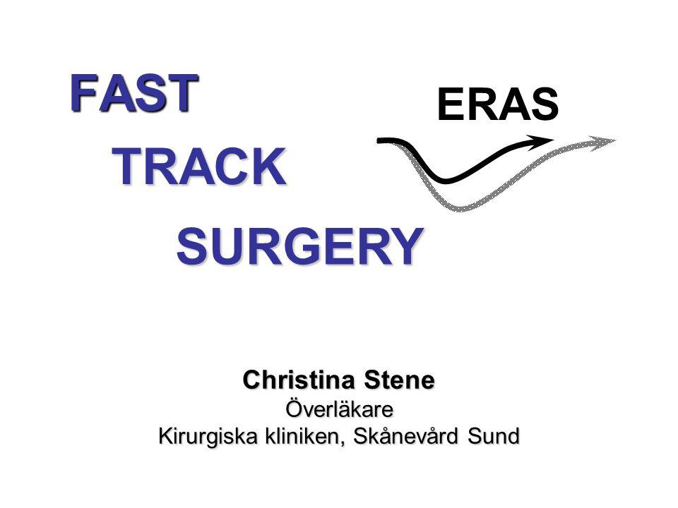 Christina Stene Överläkare Kirurgiska kliniken, Skånevård Sund