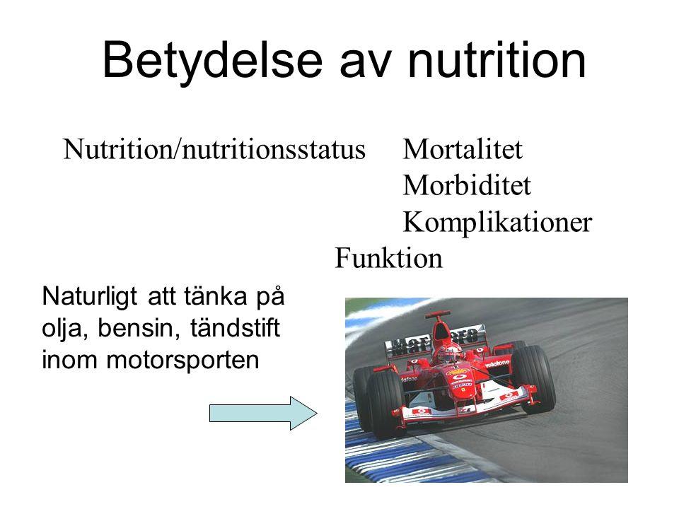 Betydelse av nutrition