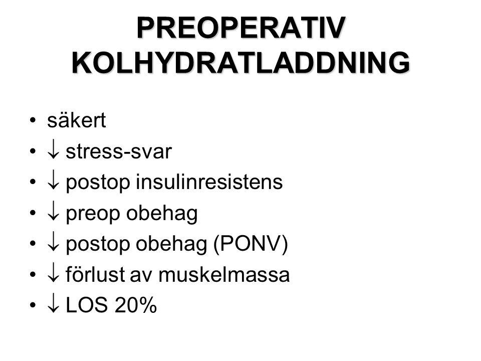 PREOPERATIV KOLHYDRATLADDNING