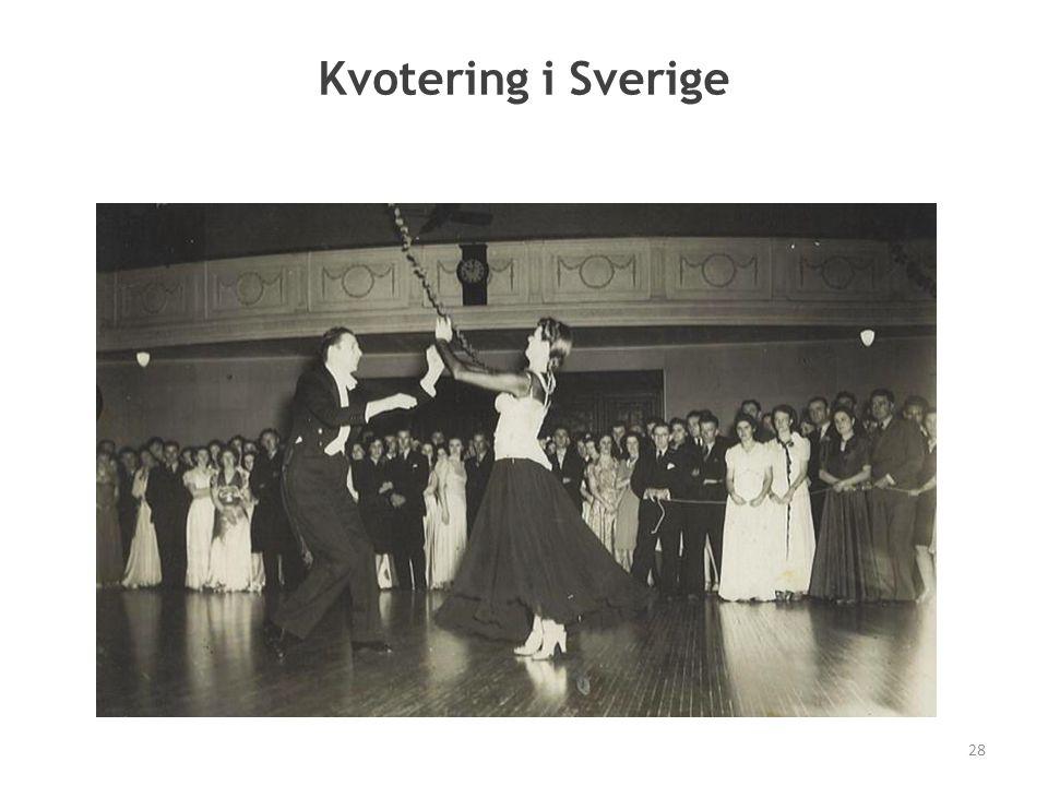 Kvotering i Sverige