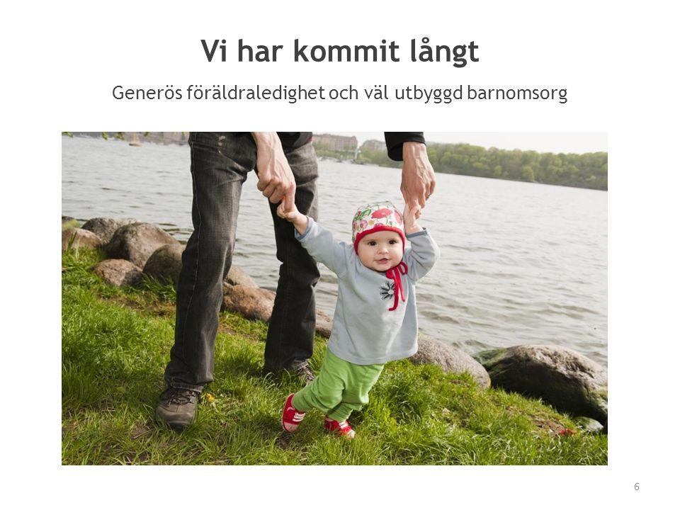 Generös föräldraledighet och väl utbyggd barnomsorg