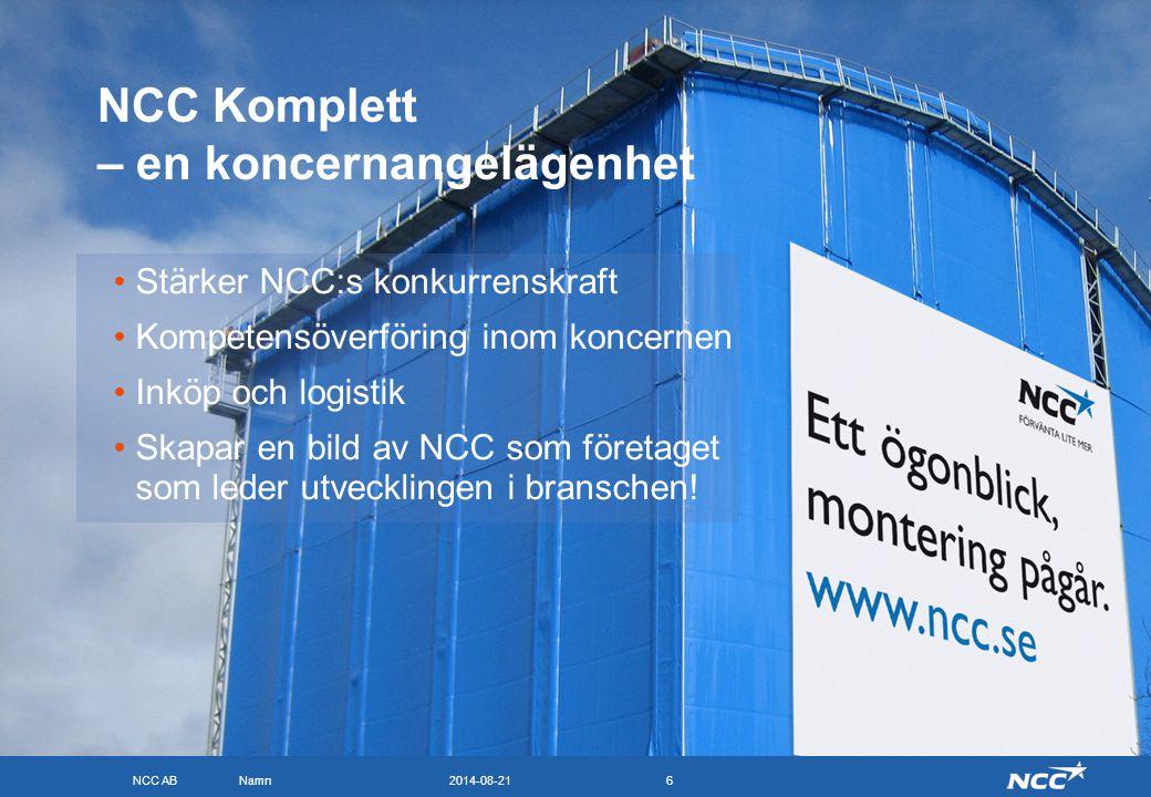 NCC Komplett – en koncernangelägenhet