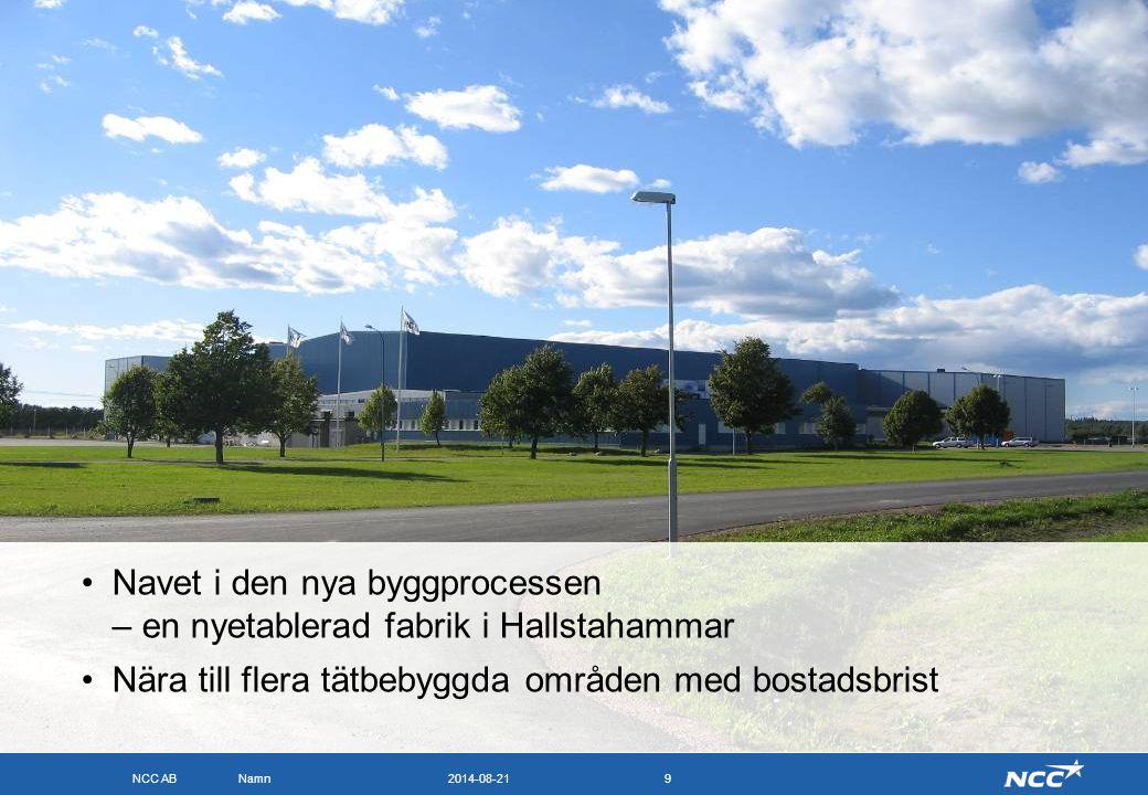 Navet i den nya byggprocessen – en nyetablerad fabrik i Hallstahammar