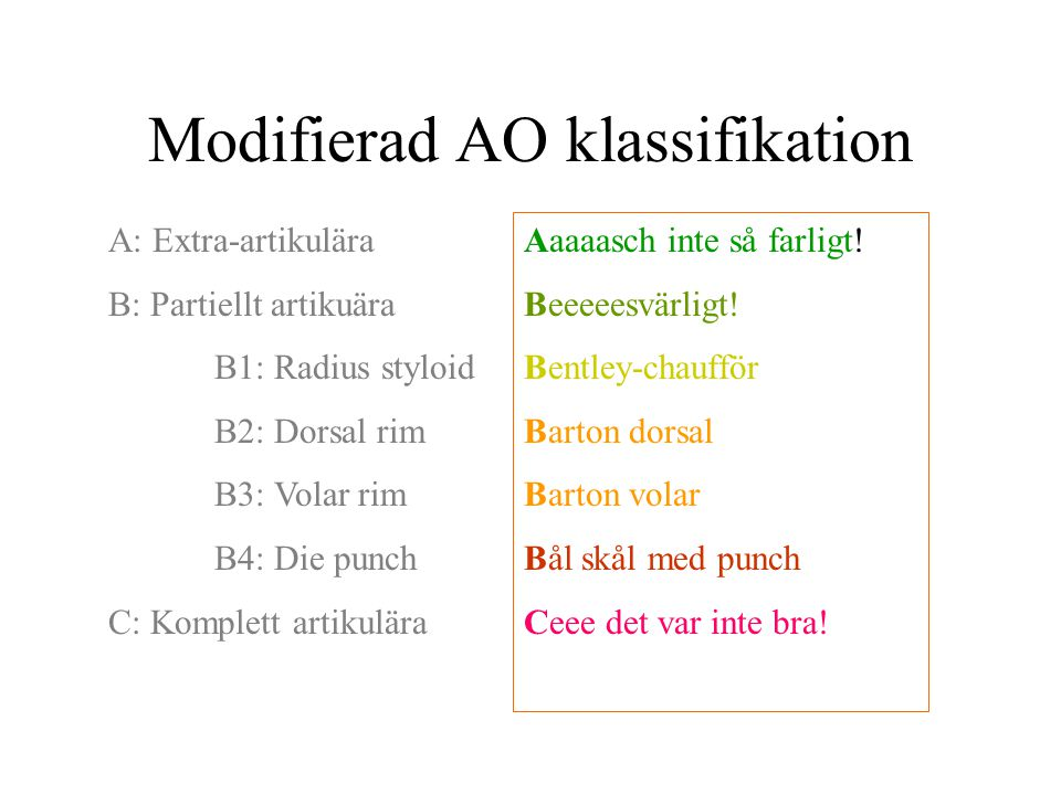 Modifierad AO klassifikation