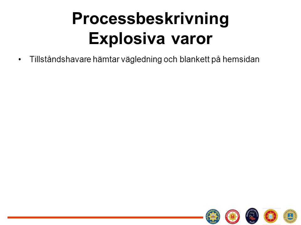 Processbeskrivning Explosiva varor