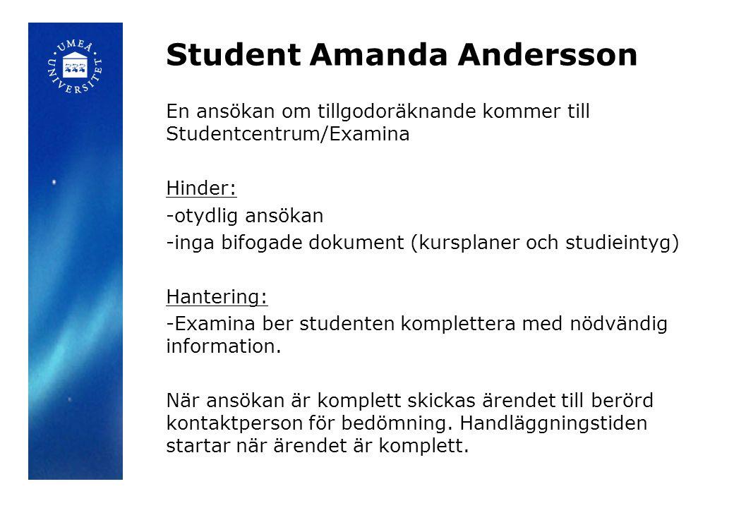Student Amanda Andersson