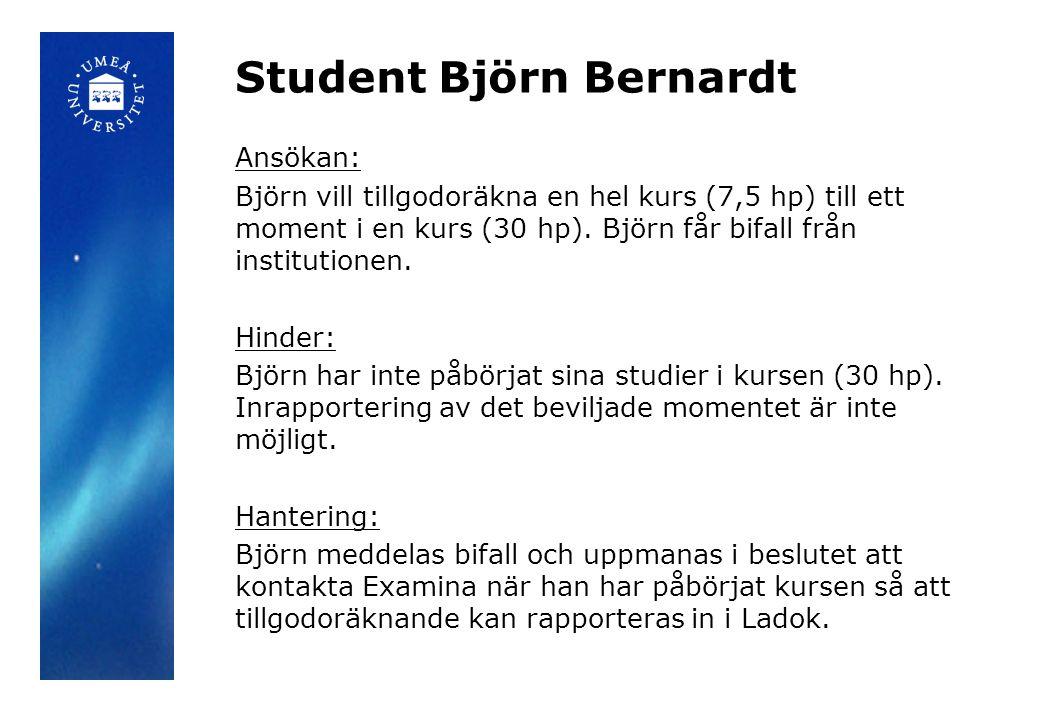 Student Björn Bernardt