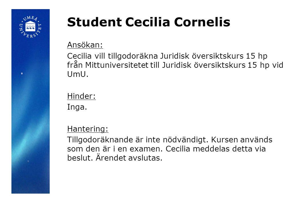 Student Cecilia Cornelis