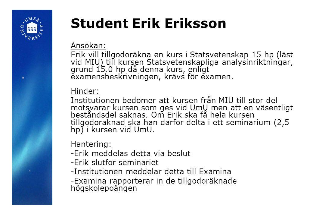 Student Erik Eriksson