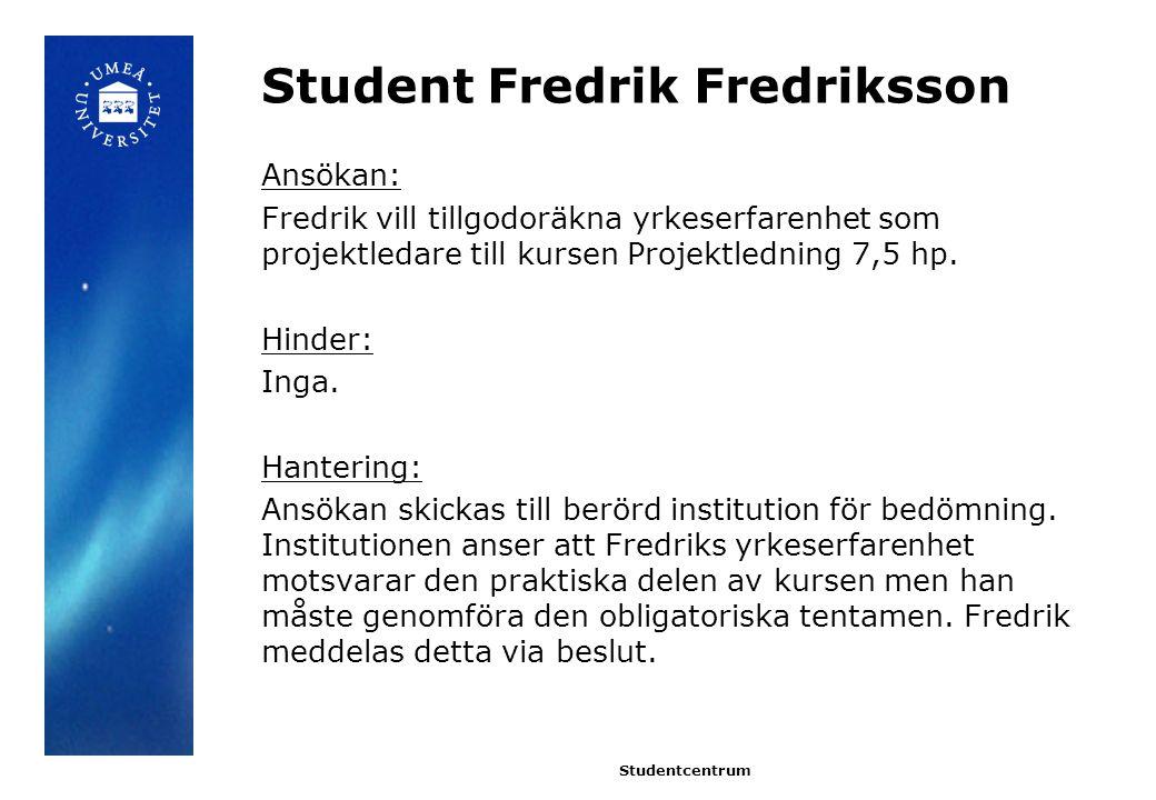 Student Fredrik Fredriksson