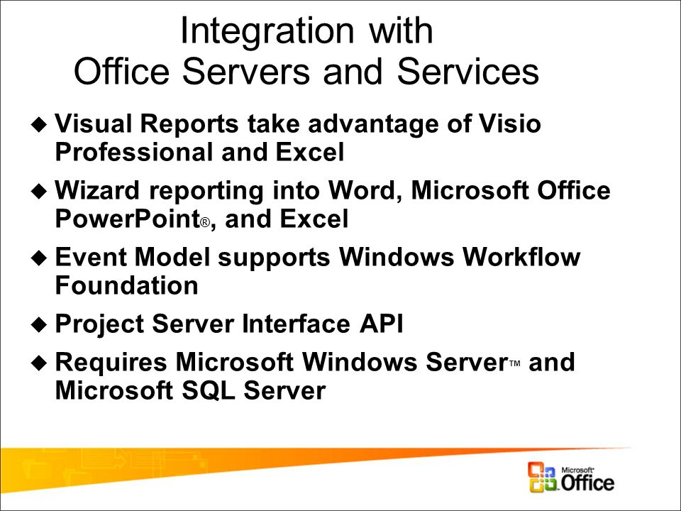 Integration with Office Servers and Services