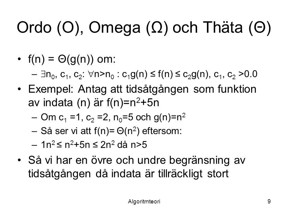 Ordo (O), Omega (Ω) och Thäta (Θ)