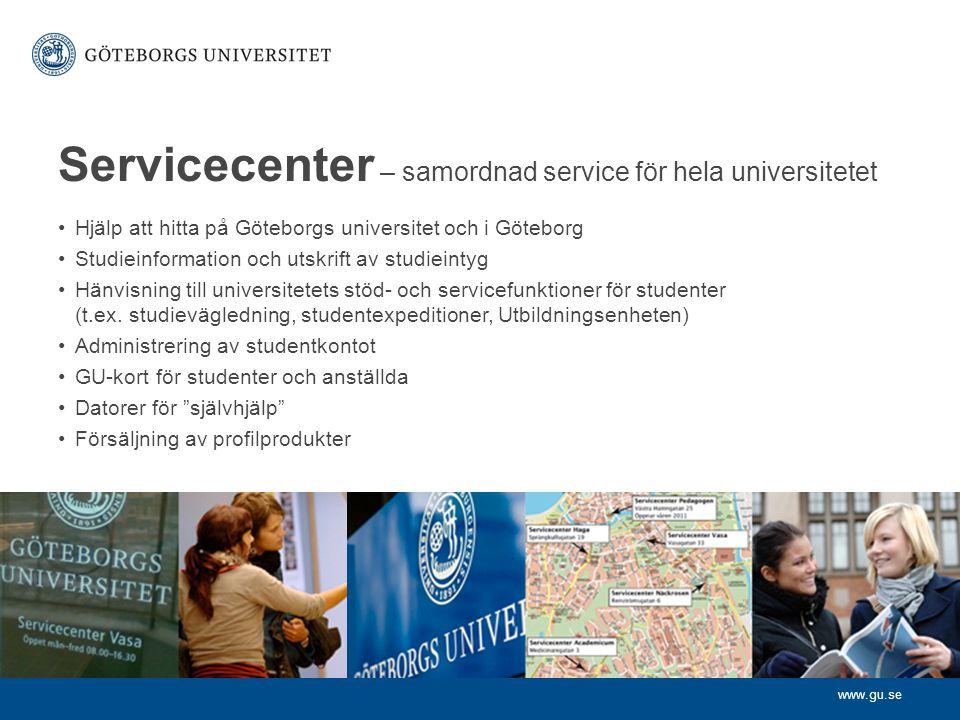 Servicecenter – samordnad service för hela universitetet
