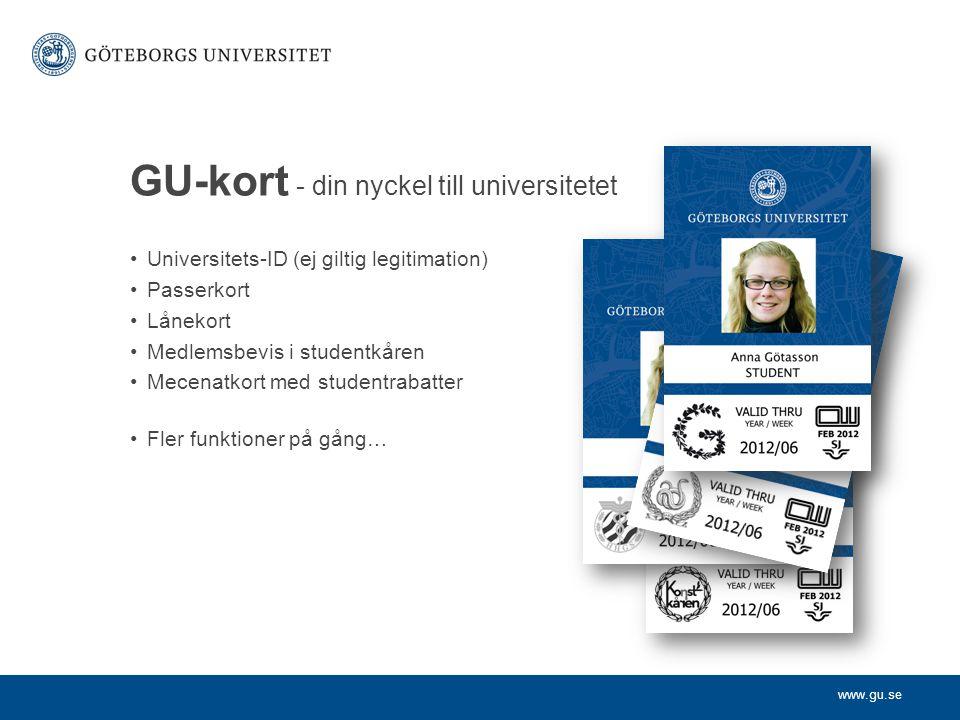 GU-kort - din nyckel till universitetet