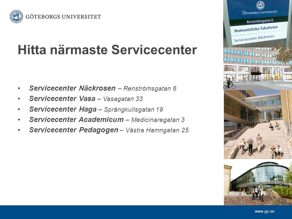 Hitta närmaste Servicecenter
