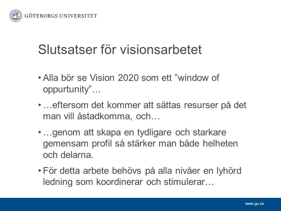Slutsatser för visionsarbetet