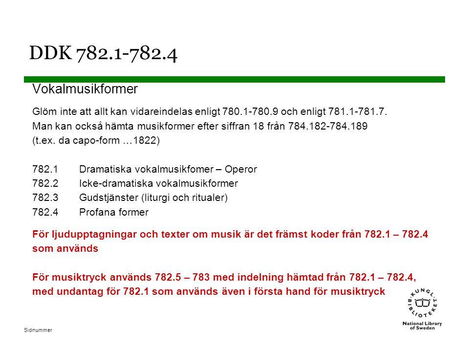 DDK 782.1-782.4 Vokalmusikformer