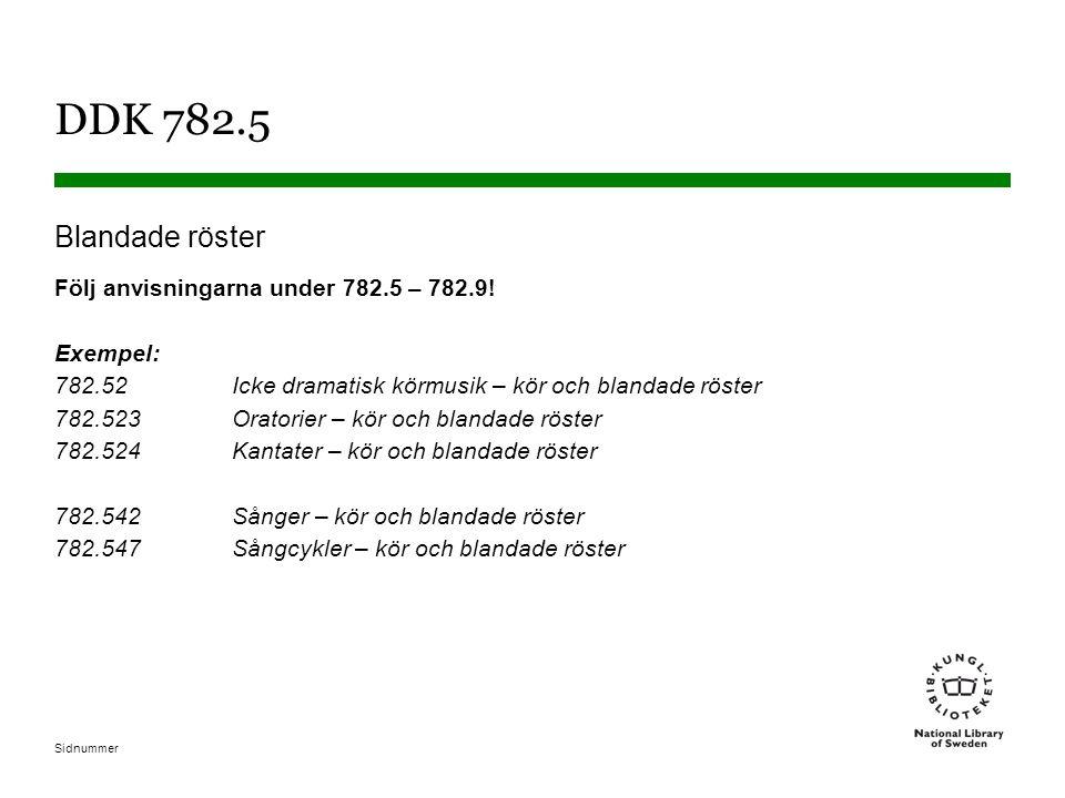 DDK 782.5 Blandade röster.