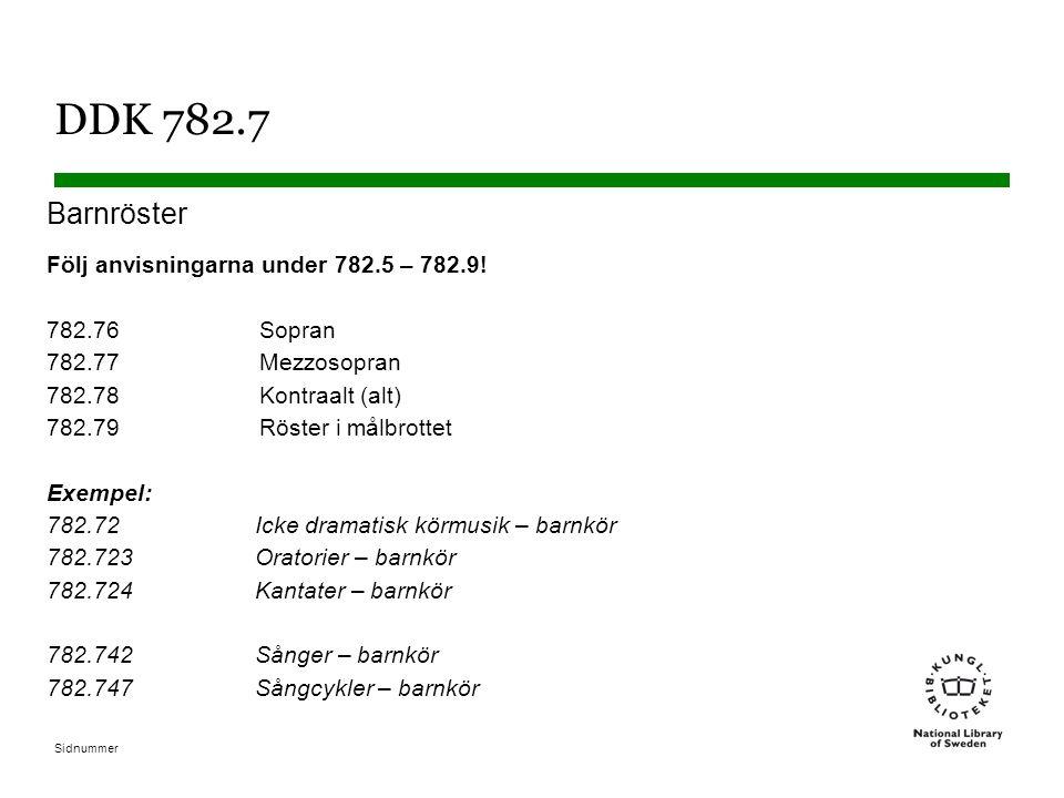 DDK 782.7 Barnröster.