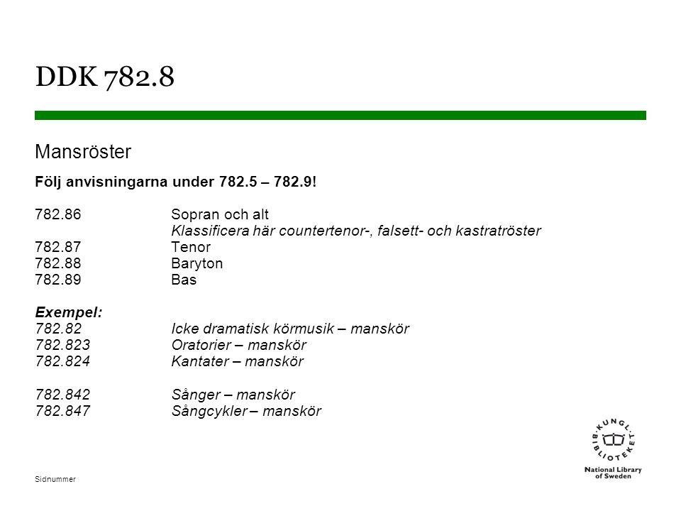 DDK 782.8 Mansröster.