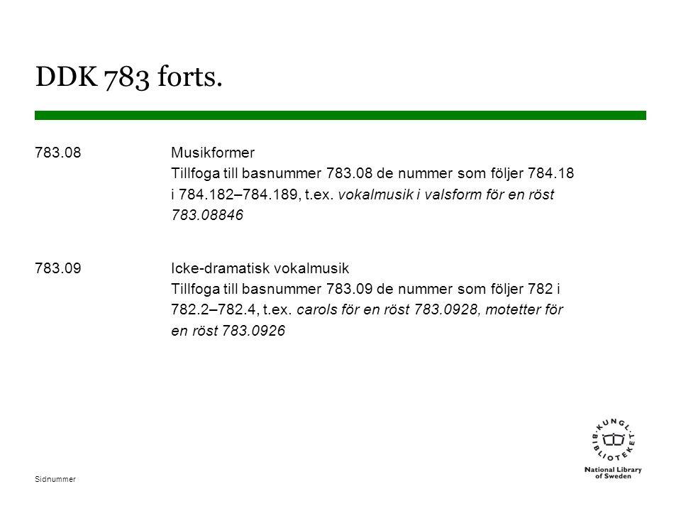 DDK 783 forts.