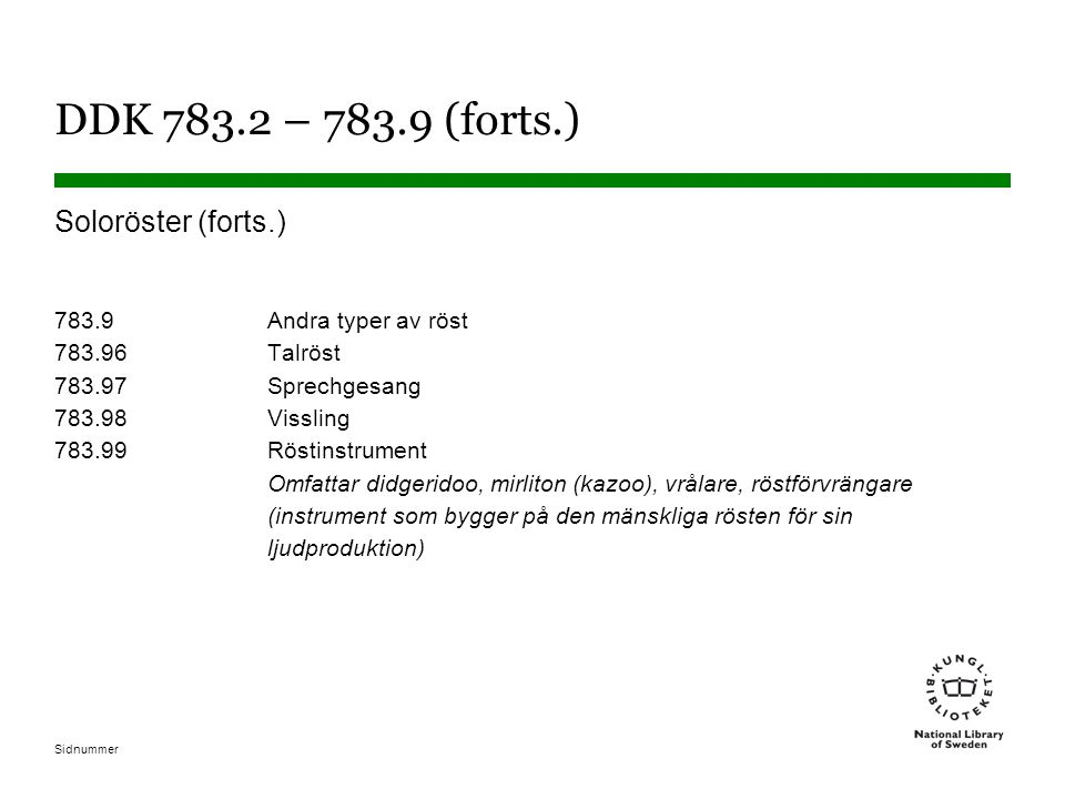 DDK 783.2 – 783.9 (forts.)