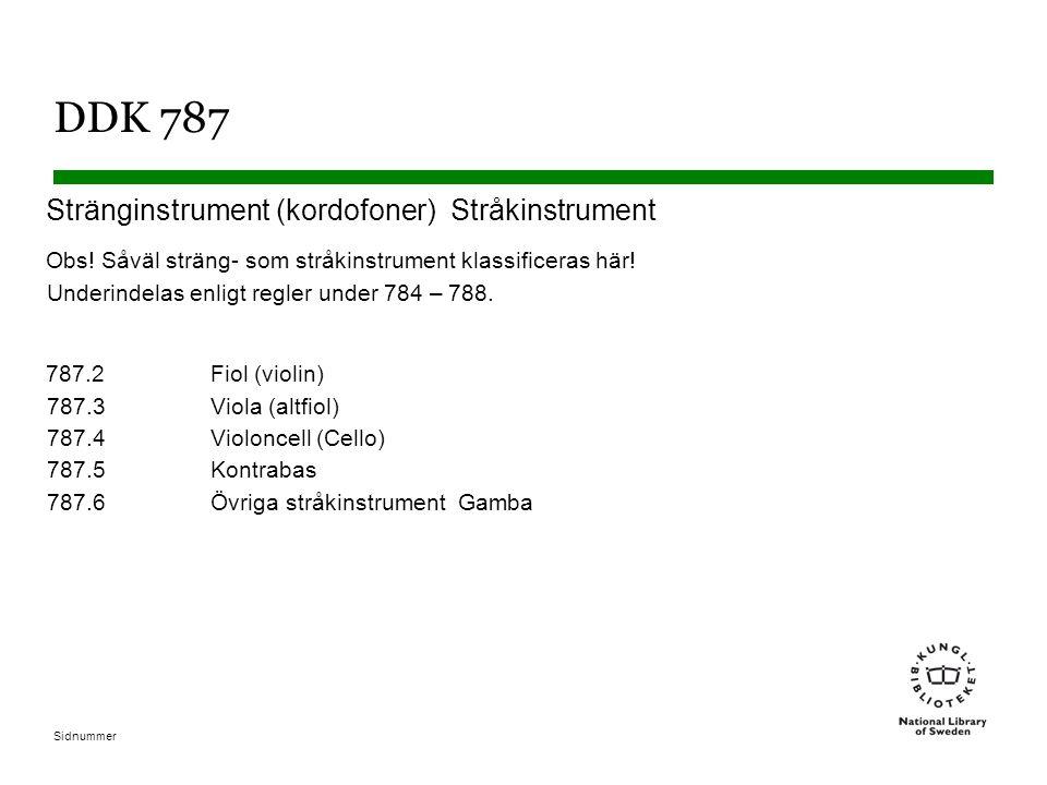 DDK 787 Stränginstrument (kordofoner) Stråkinstrument