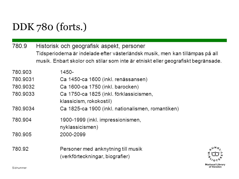 DDK 780 (forts.)