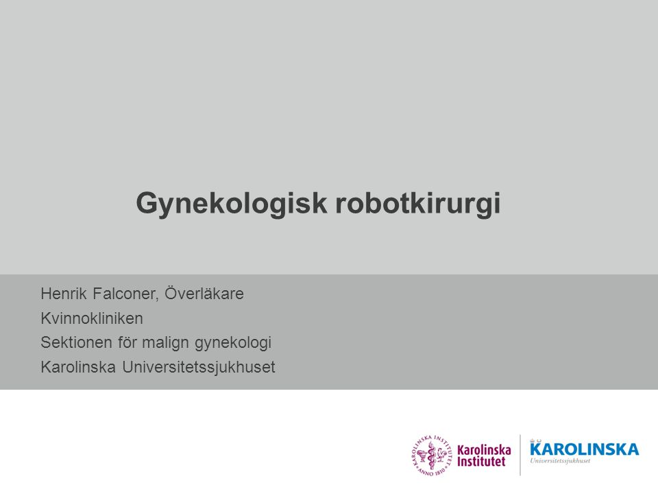 Gynekologisk robotkirurgi