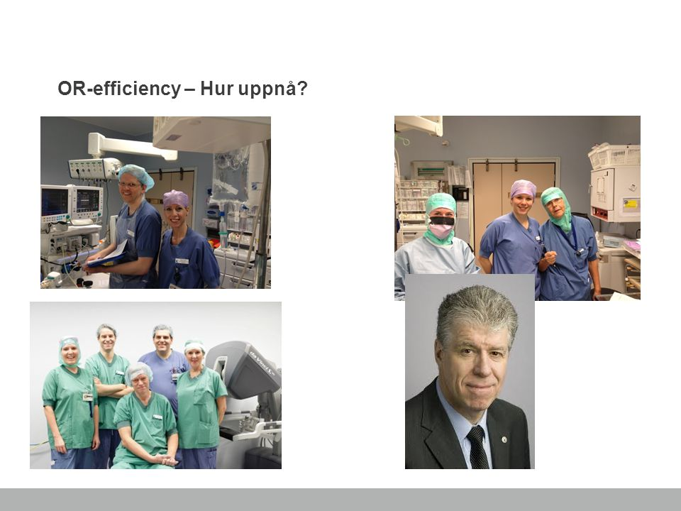 OR-efficiency – Hur uppnå
