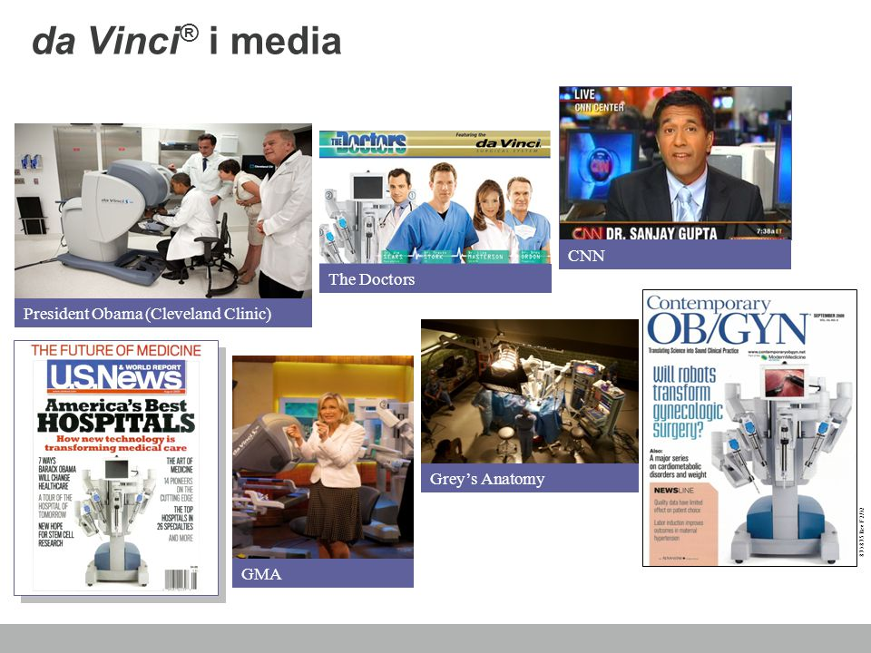 da Vinci® i media CNN The Doctors President Obama (Cleveland Clinic)