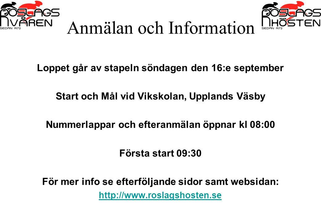 Anmälan och Information