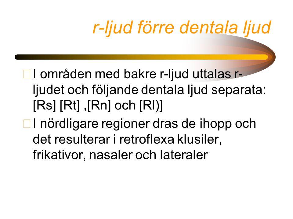 r-ljud förre dentala ljud