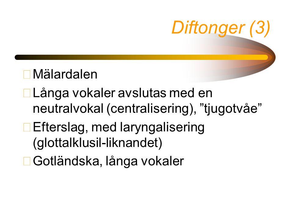 Diftonger (3) Mälardalen