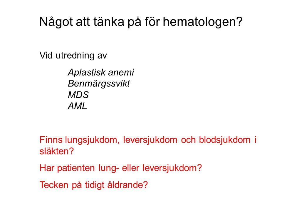 Något att tänka på för hematologen
