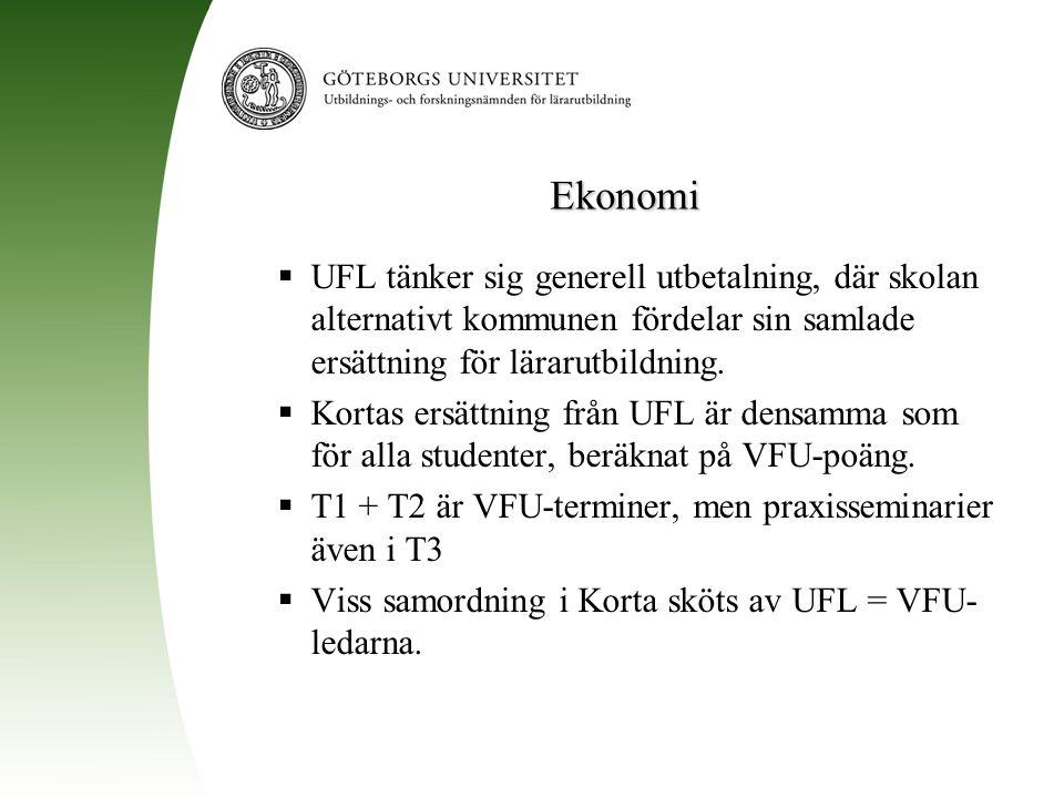Ekonomi UFL tänker sig generell utbetalning, där skolan alternativt kommunen fördelar sin samlade ersättning för lärarutbildning.