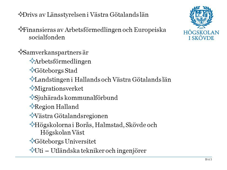 Finansieras av Arbetsförmedlingen och Europeiska socialfonden