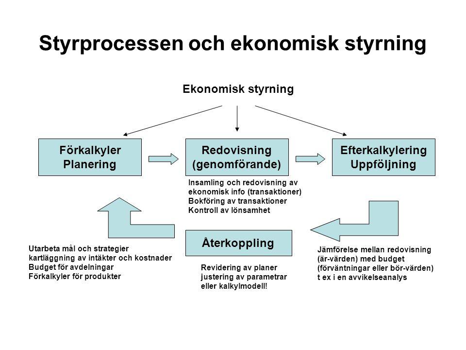 Styrprocessen och ekonomisk styrning