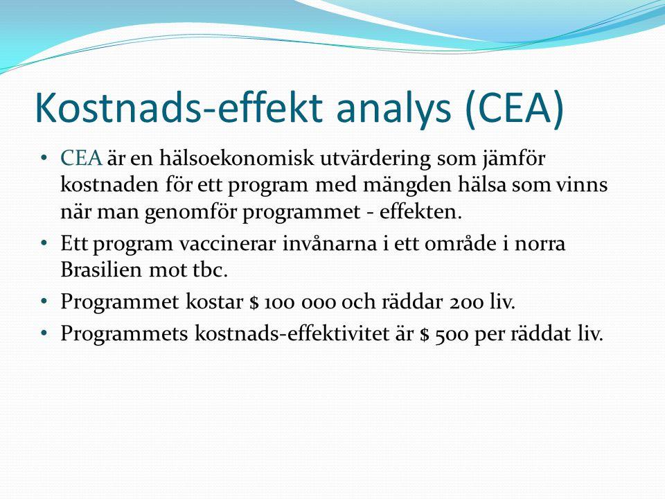Kostnads-effekt analys (CEA)