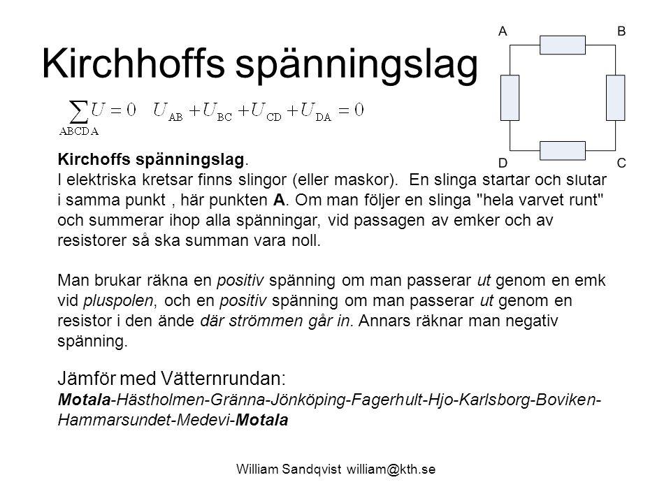Kirchhoffs spänningslag