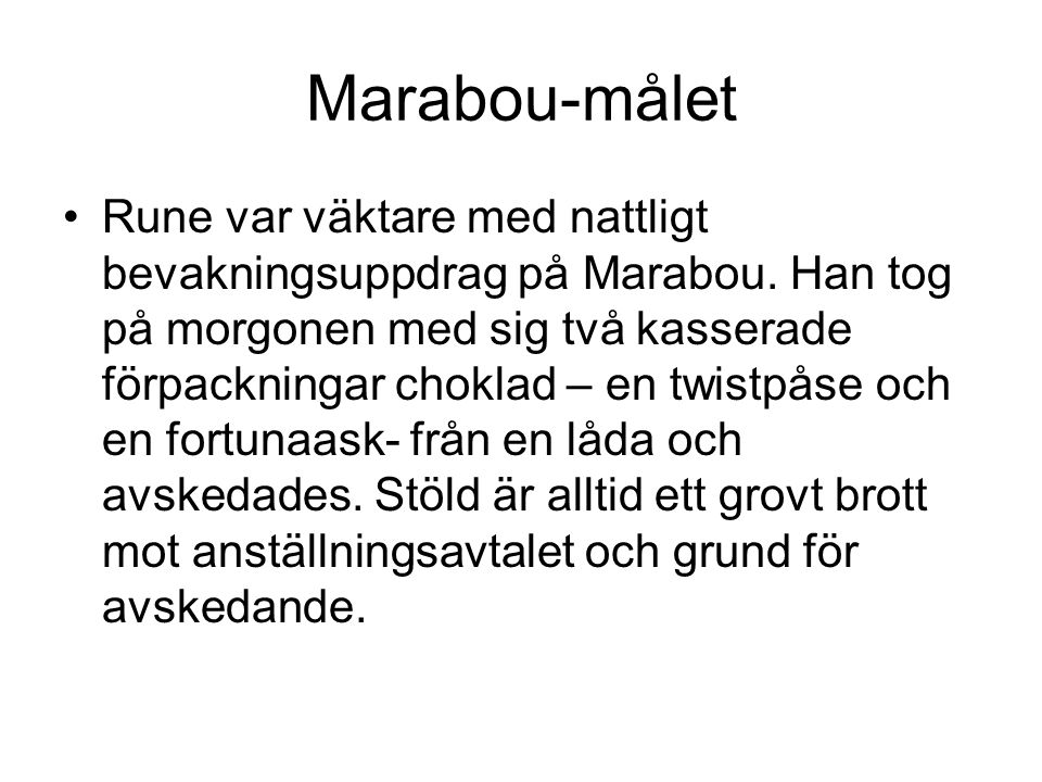 Marabou-målet