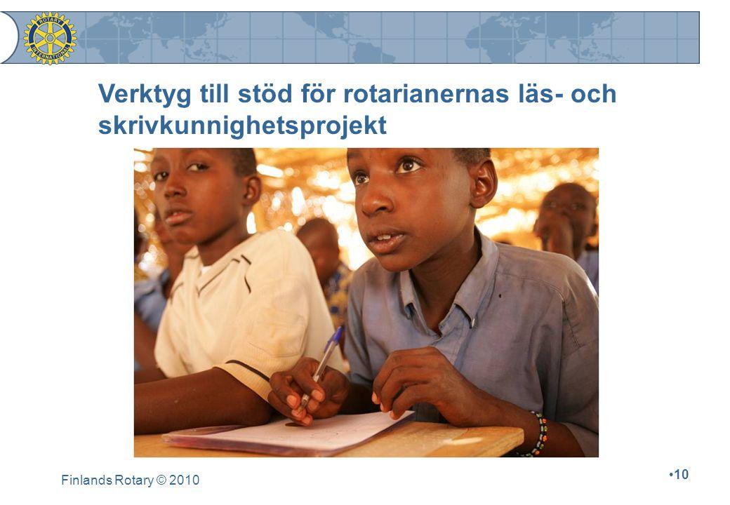 Verktyg till stöd för rotarianernas läs- och skrivkunnighetsprojekt