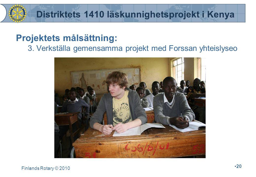Distriktets 1410 läskunnighetsprojekt i Kenya